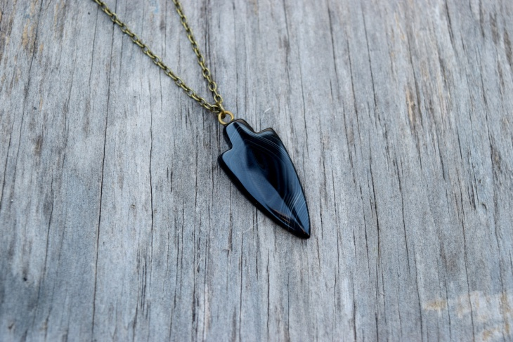 arrowhead agate necklace