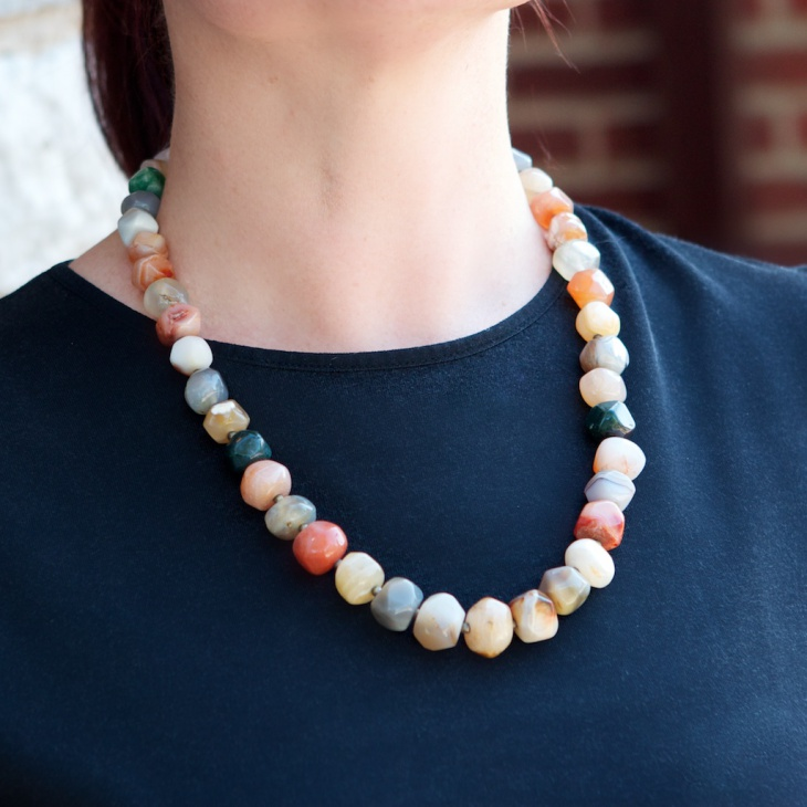 antique agate necklace