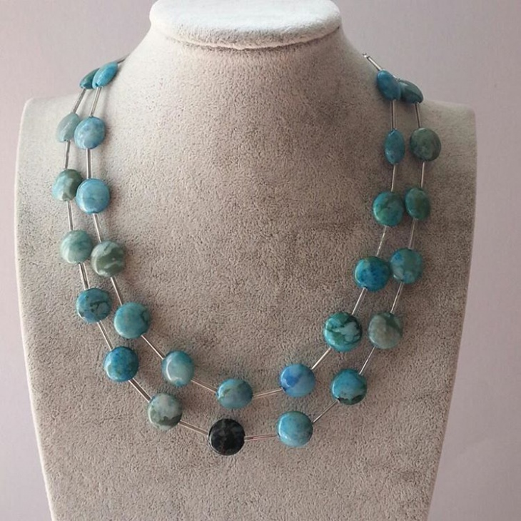 Doble Layered Agate Necklace
