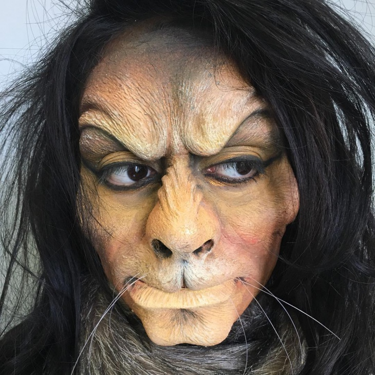lion prosthetic makeup