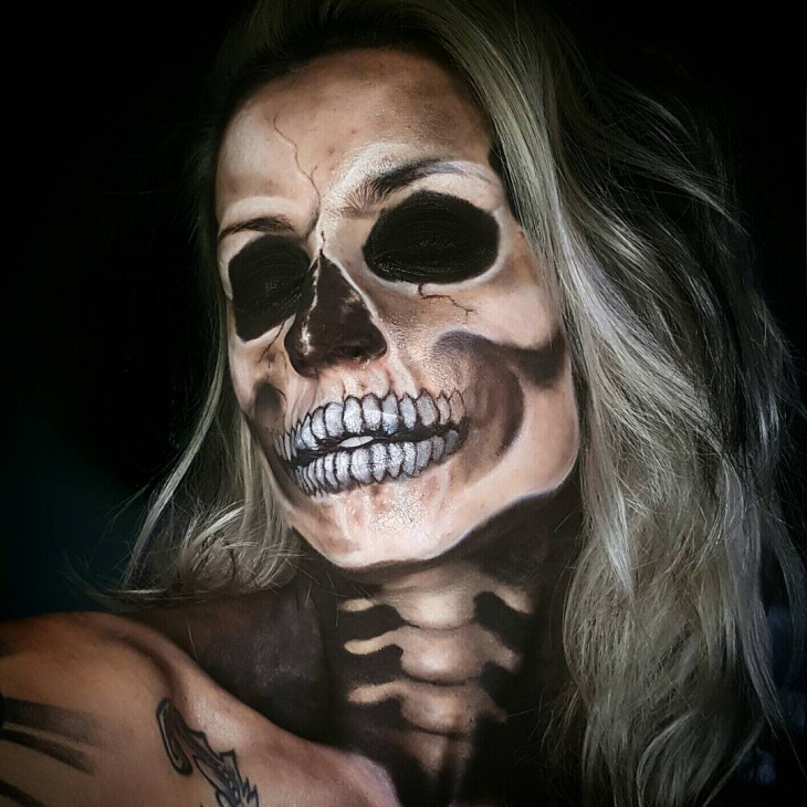 skeleton makeup popsugar beauty. skeleton halloween makeup ...