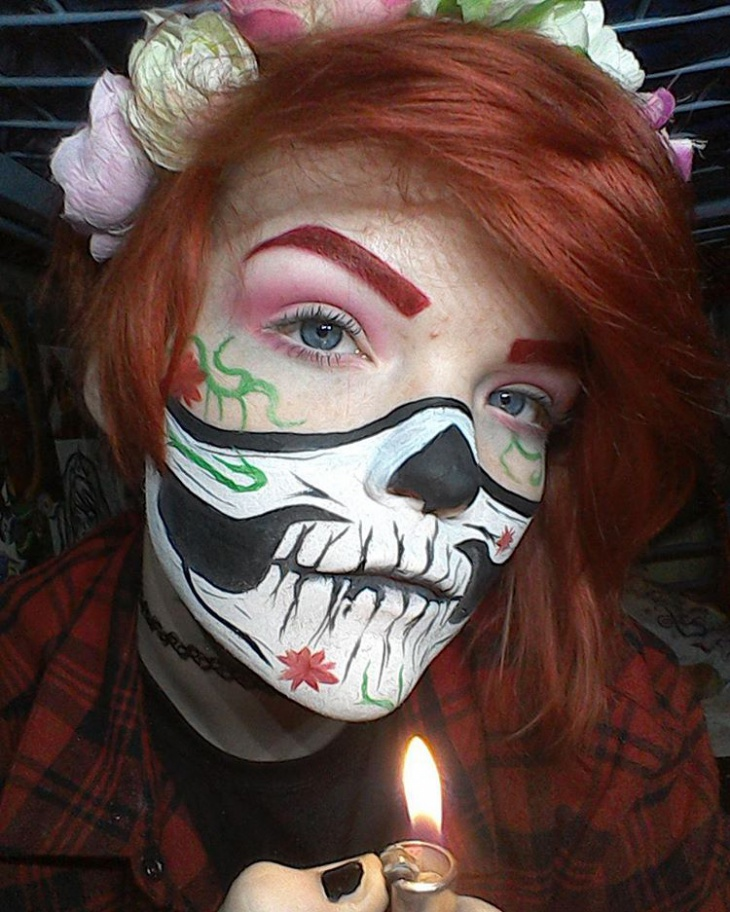 Skeleton Doll Makeup Design