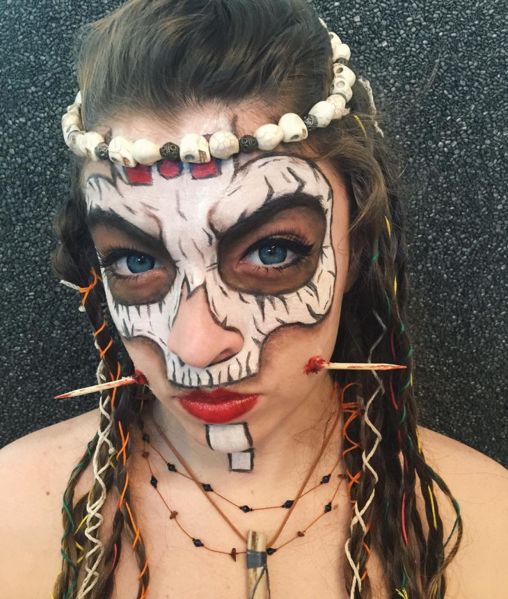 Skeleton Vampire Makeup