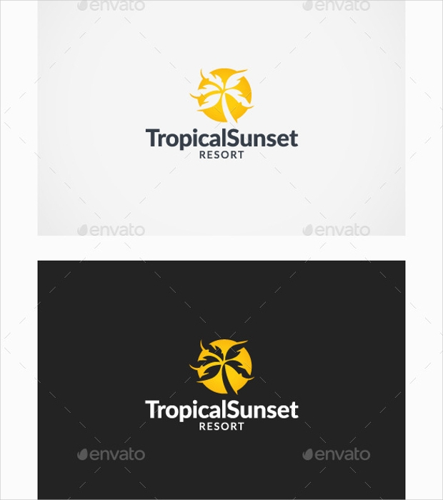 Tropical Sunset Resort Logo