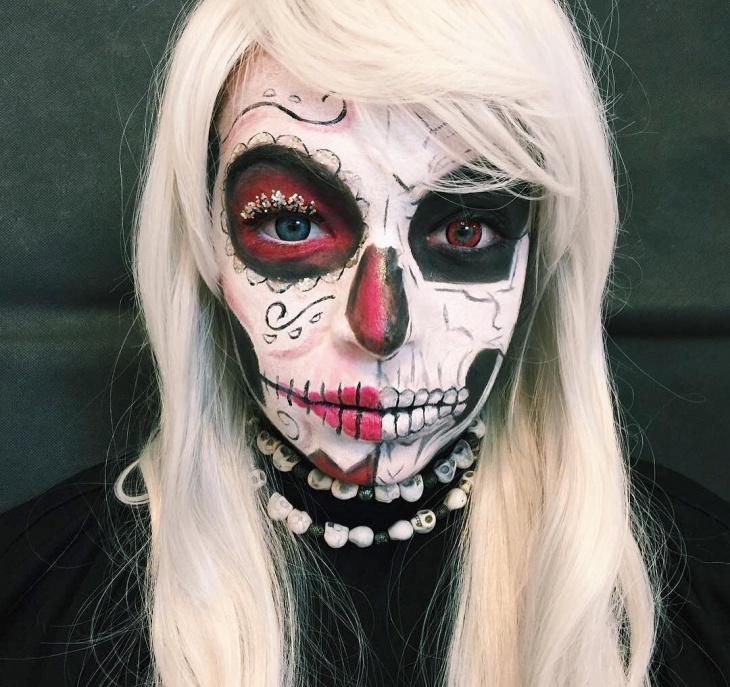 Zombie Skeleton Makeup
