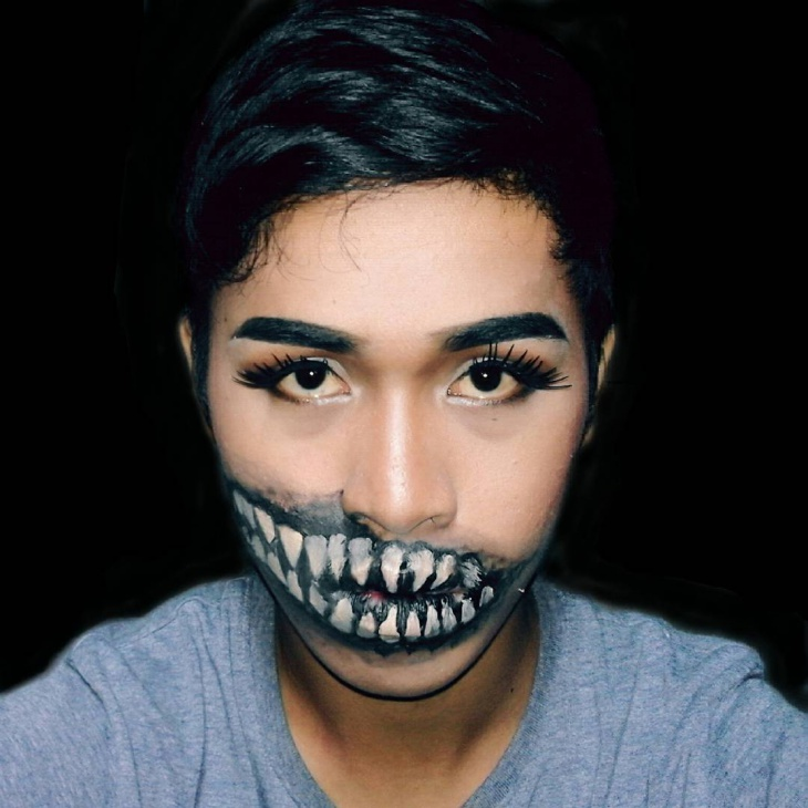 Men Skeleton Makeup Idea