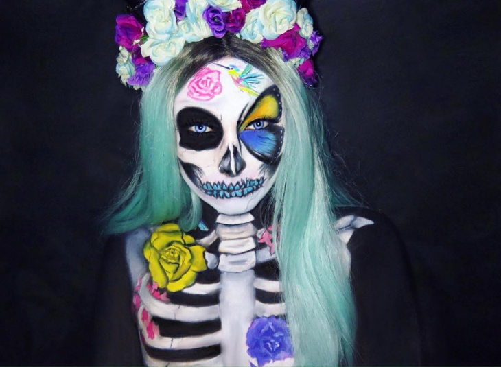 Skeleton Spring Makeup