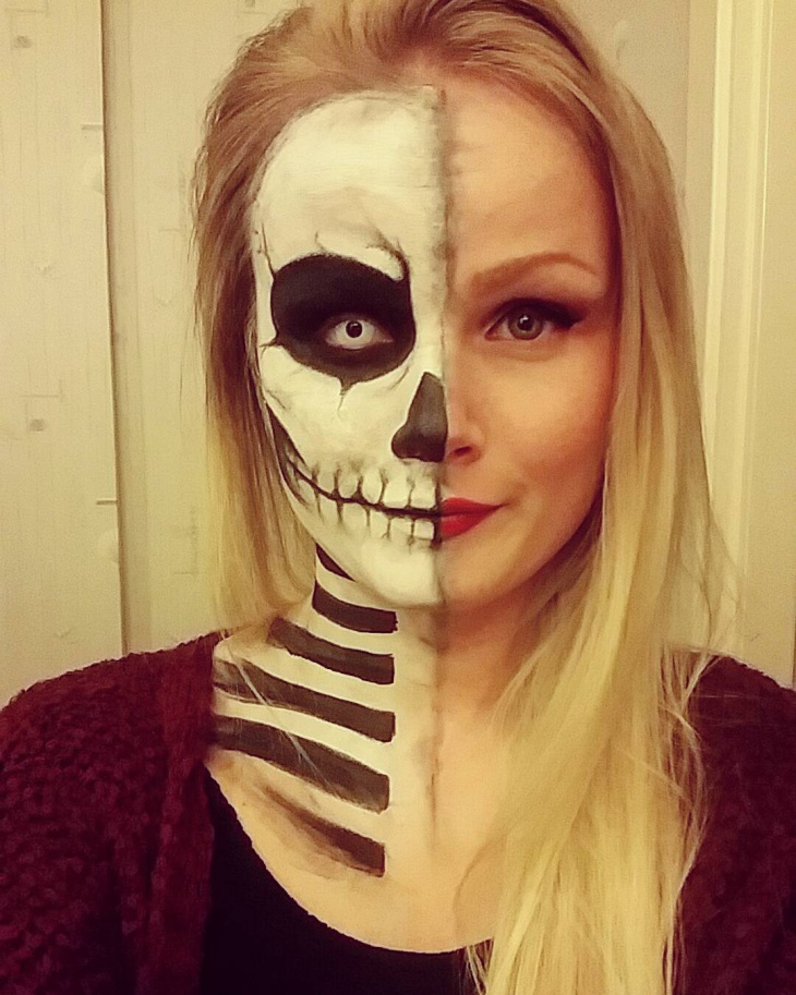 Eye mask Skeleton Makeup