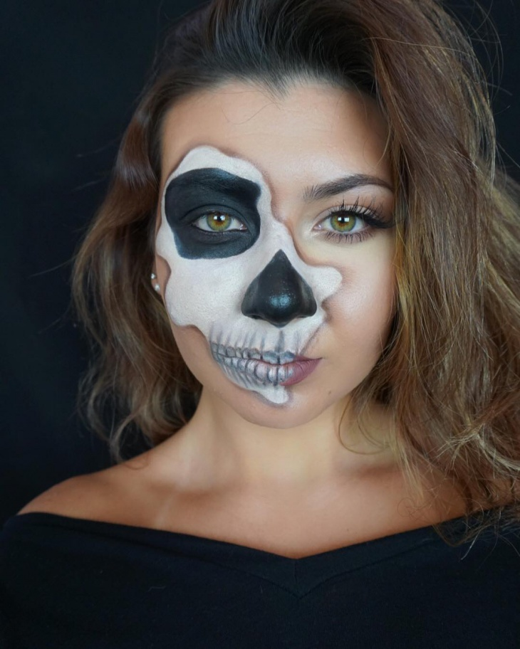 Simple Skeleton Makeup