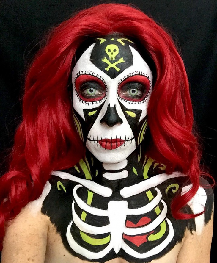 Scary Skeleton Makeup Idea