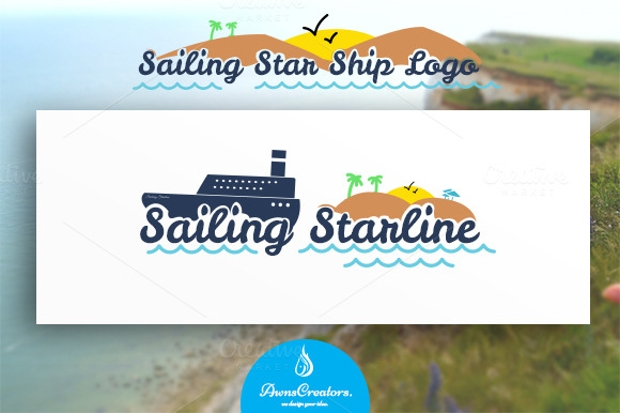 Sailing Ship Logo Design