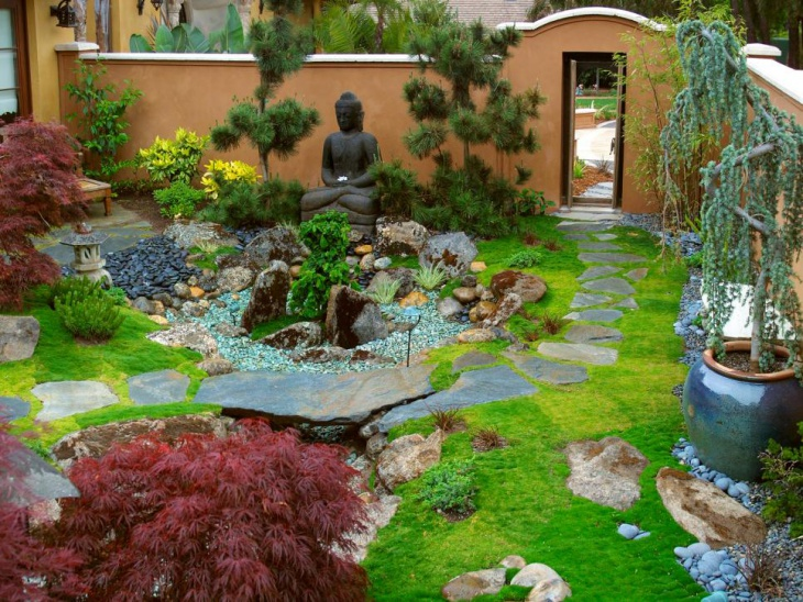 transitional zen garden