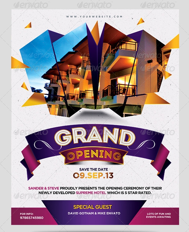 grand business opening flyer