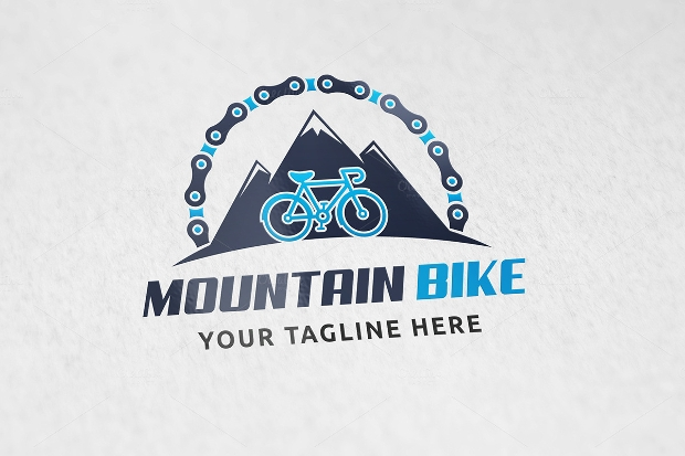 Mountain Bike Bicycle Logo