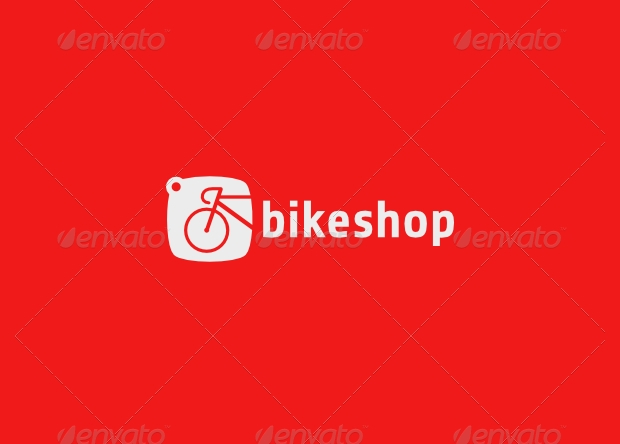 Colorful Bicycle Shop Logo