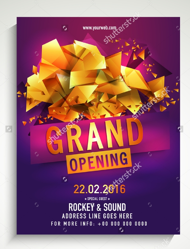 Grand Opening Flyer Templates  Printable Psd Ai Vector Eps