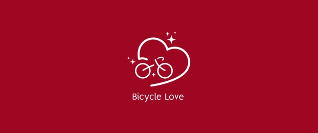 Bicycle Love Logo Design