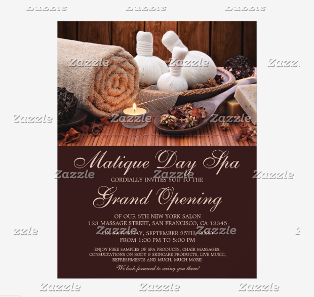 Spa Or Massage Salon Grand Opening Flyer