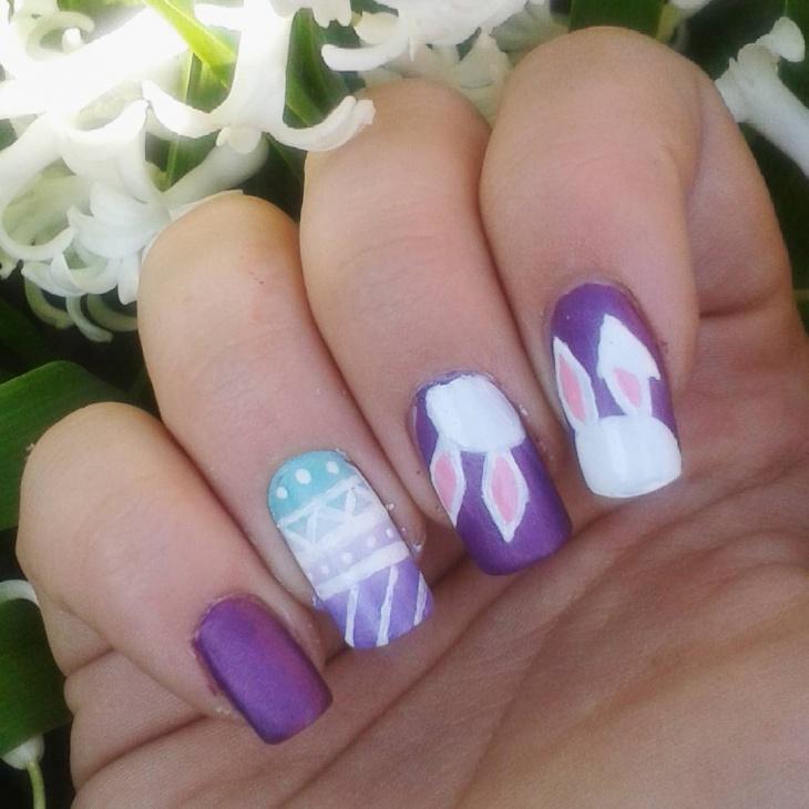 bunny ears nail design idea