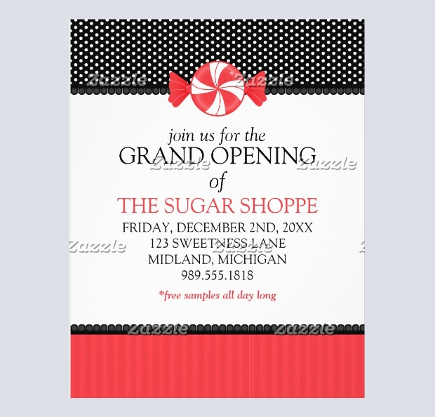 Candy Shop Grand Opening Flyer