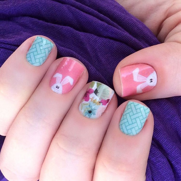 unique bunny nails idea