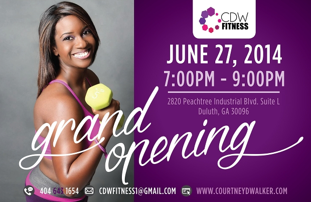 Fitness Grand Opening Flyer