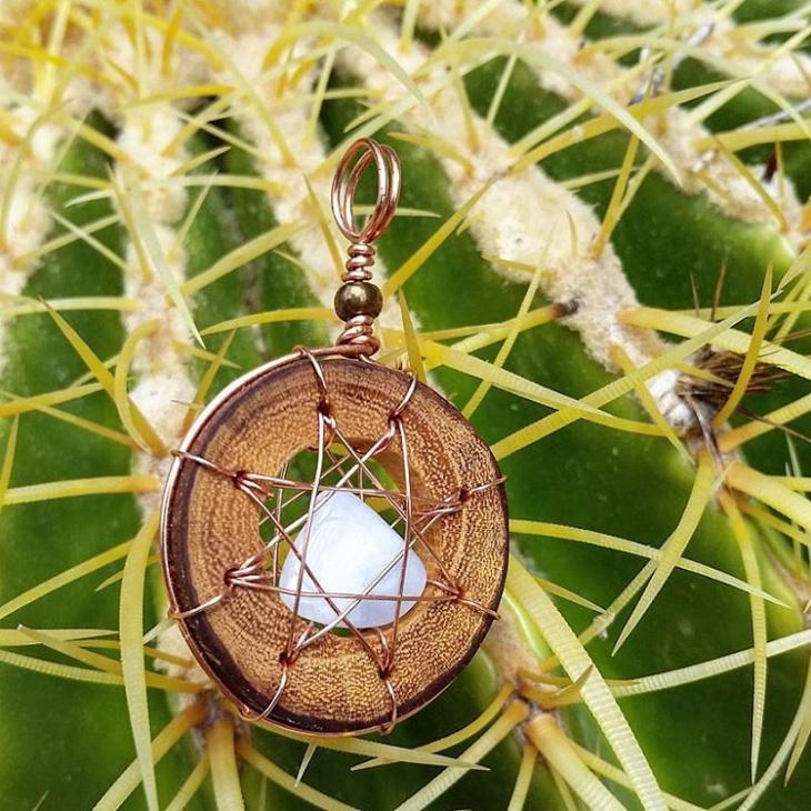 modern wooden pendant jewelry