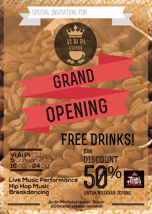 coffee shop grand opening flyer