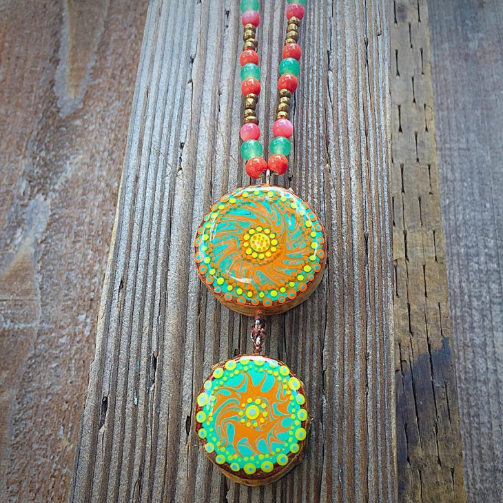 Colorful Wooden Jewelry Necklace