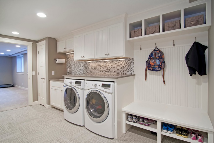 small utility room storage idea