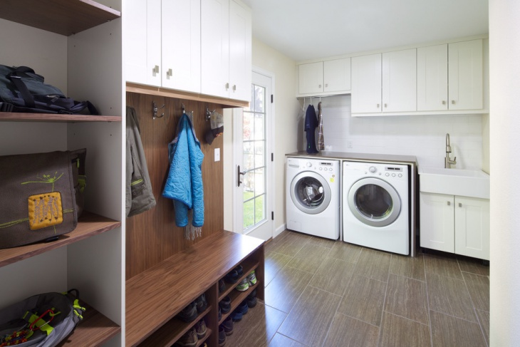 White Utility Room Cabinets