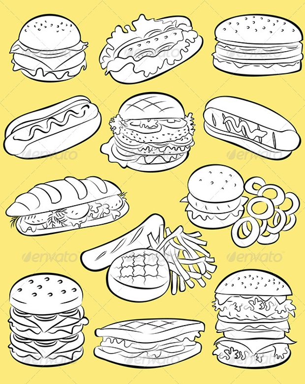 hamburgers vector art