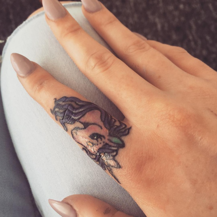 Unicorn Tattoo for Finger
