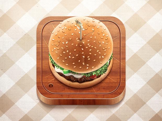 delicious burger vector