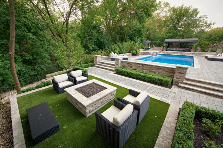 backyard of villa with pool