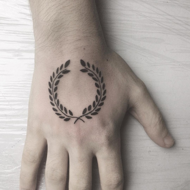 laurel wreath tattoo design