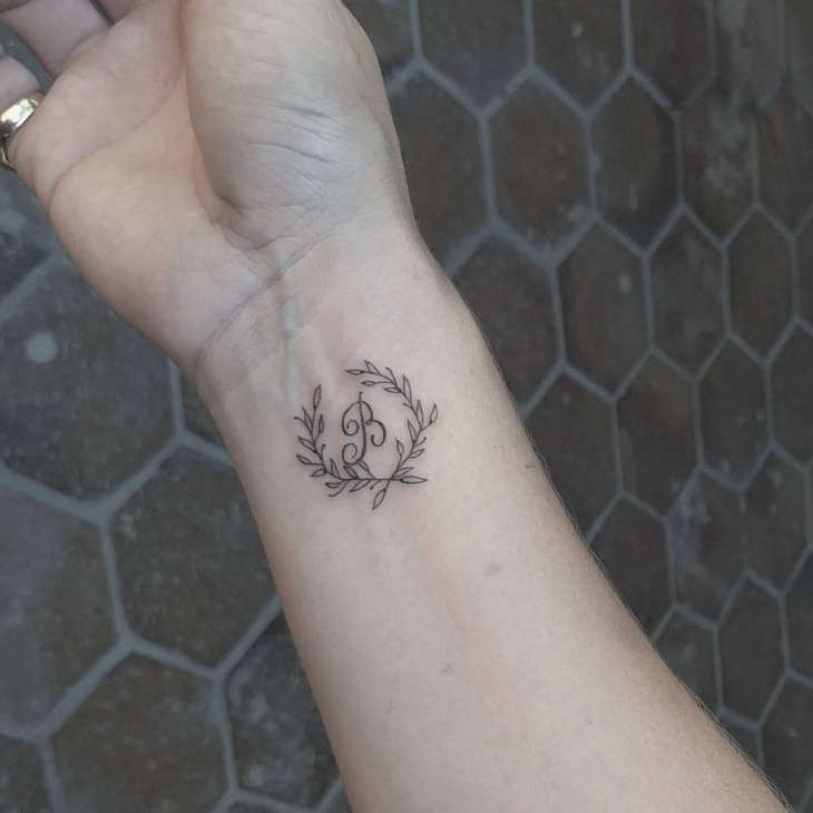 Small Wreath Tattoo on Wrist