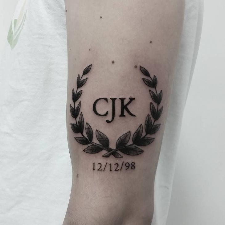 Memorial Wreath Tattoo Idea