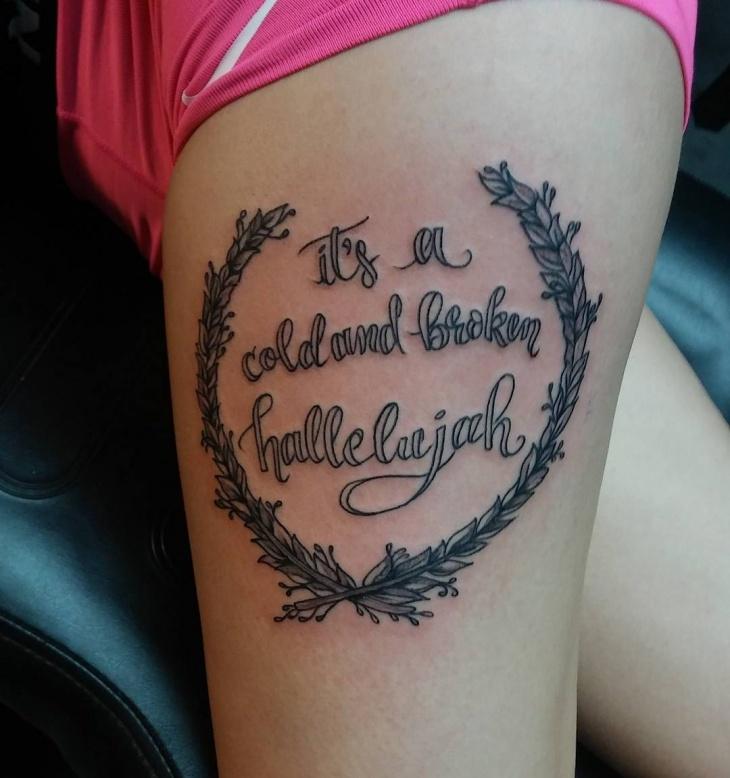 statement wreath tattoo for women
