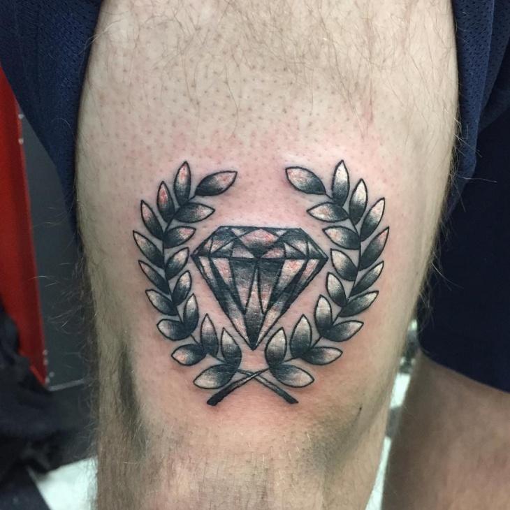 Black and White Wreath Tattoo