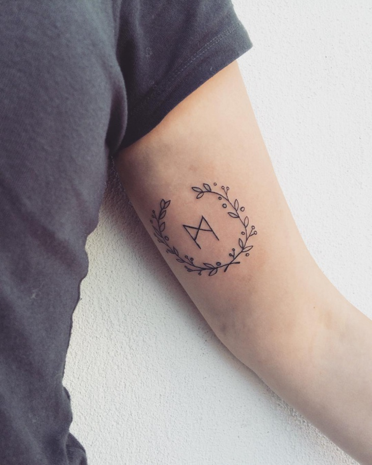 simple wreath tattoo