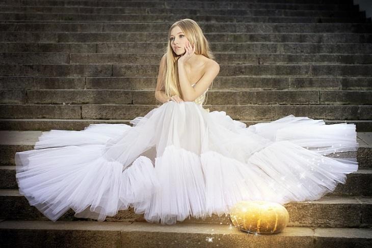 cinderella fairytale gown
