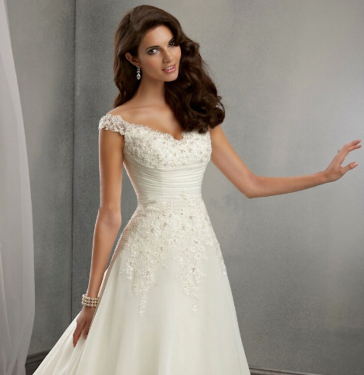 beautiful white fairytale gown