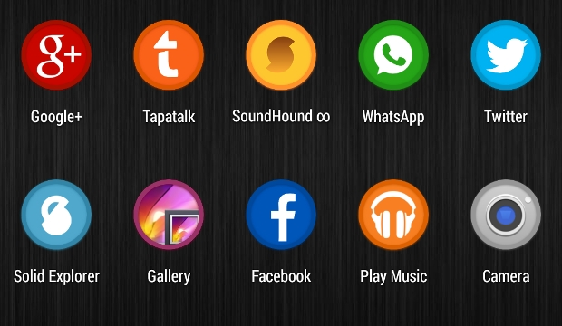 circular android icons
