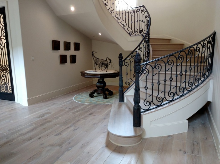white olied wood flooring idea