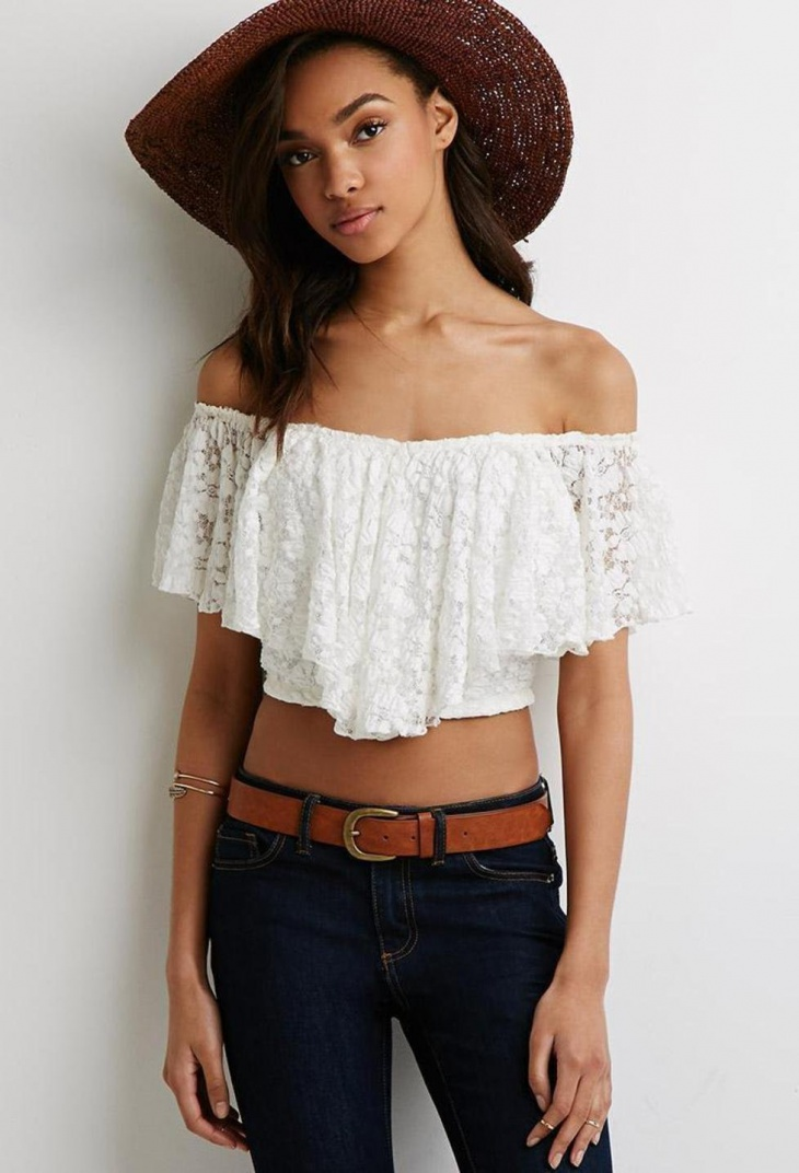 Cropped Lace Tops