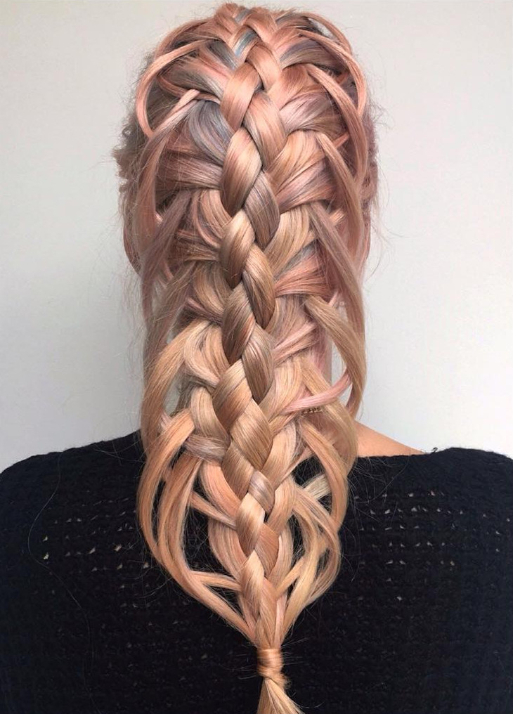 feather loop braid hairstyle