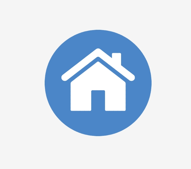 circular home icon