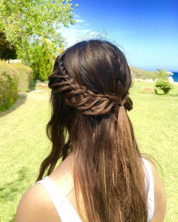 half loop braid hairstyle idea