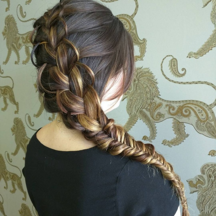 loop fishtail braid